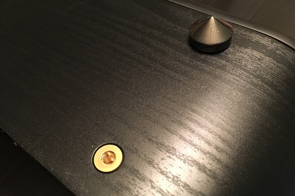 The Fi50 includes high quality spikes that attach to the bottom of the speaker.