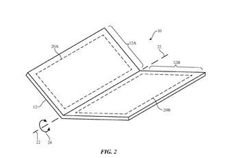 An Apple patent for a foldable or bendable portable device