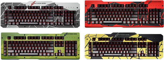 Division Zero X40 Pro Gaming Mechanical Keyboard: Four