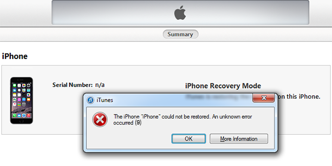 How To Fix iPhone 5S Blue Screen With Error 9 or 14 - Mobile